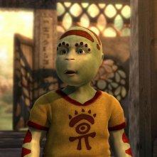 Una scena del film animato Delgo