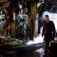 Il protagonista Christian Bale in una scena di Terminator Salvation