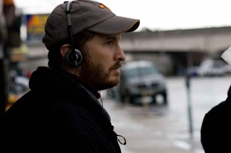 Il regista Darren Aronofsky sul set del film The Wrestler