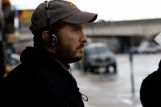 Il regista Darren Aronofsky sul set del film The Wrestler