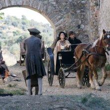 Michelle Bonev con Fabio Fulco in una scena della miniserie Artemisia Sanchez