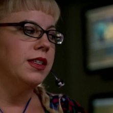 Kirsten Vangsness in una scena dell'episodio 'Brothers in Arms' della quarta stagione di Criminal Minds