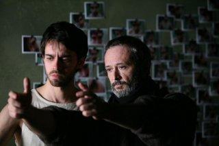 Alberto Amarilla e Stefano Bessoni sul set del film Imago Mortis