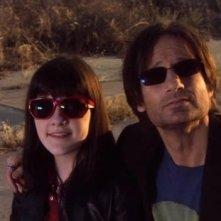 Madeleine Martin e David Duchovny in una scena dell'episodio 'La petite mort' di Californication