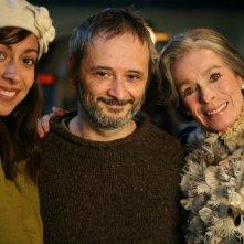Oona Chaplin, Stefano Bessoni e Geraldine Chaplin sul set del film Imago Mortis