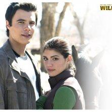 Un wallpaper di Genevieve Cortese e Ryan Sypek nel serial Wildfire