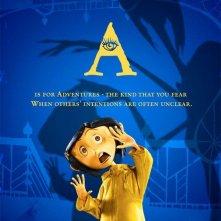 Uno degli 'Alphabet Poster' del film Coraline e la porta magica - Lettera A