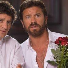 Fabio De Luigi e Paolo Conticini in una scena del film Natale a Rio