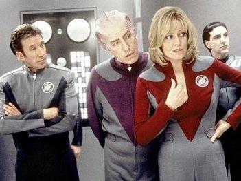 Sigourney Weaver, Tim Allen e Alan Rickman in Galaxy Quest