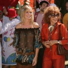 Simona Marchini con Serena Autieri nel film televisivo Dottor Clown