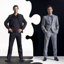 Thomas Cavanagh e Eric McCormack in un'immagine promozionale della serie TV Trust Me