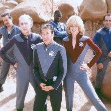 Tim Allen, Alan Rickman, Sigourney Weaver, Sam Rockwell e Daryl Mitcher in Galaxy Quest