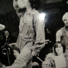 1970: Giselda Castrini nel musical Hair (prima edizione italiana) dietro di lei, Ronnie Jones