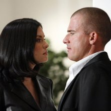 Dominic Purcell e Jodi Lyn O'Keefe nell'episodio 'The Sunshine State' di Prison Break