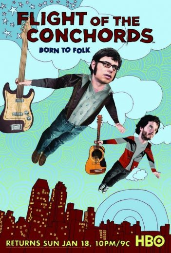 Un poster della seconda stagione di The Flight of the Conchords