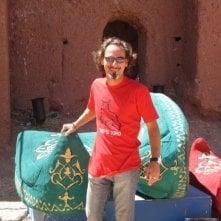 Giuseppe Tabacco in Marocco sul set del reality-show La Fattoria.