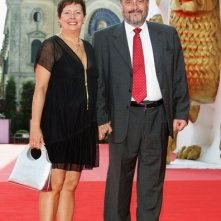 Paola Baroni accanto a Paolo Benvenuti alla Mostra del cinema di Venezia, nel 2008