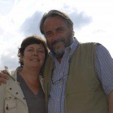 Paola Baroni insieme a suo marito Paolo Benvenuti sul set di Puccini e la fanciulla, nel 2008