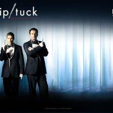 Un wallpaper per la quinta stagione di Nip/Tuck con la coppia di protagonisti