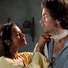 Santiago Cabrera e Angel Coulby in una scena dell'episodio Lancillotto di Merlin