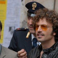 Guido Caprino ed Augusto Fornari in una scena della serie tv Il commissario Manara