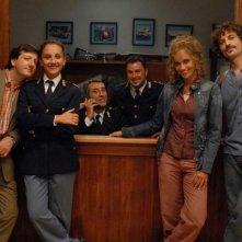 Una foto promozionale del cast de Il commissario Manara
