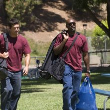 Eddie Cibrian e Morris Chestnut in una scena del film Not Easily Broken