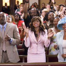 Morris Chestnut, Taraji P. Henson e Jenifer Lewis in una scena del film Not Easily Broken