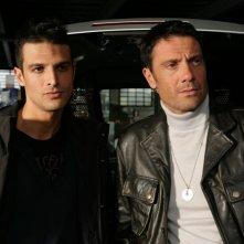 Alessandro Pess e Marco Falaguasta in una scena dell'episodio Fratelli de Il bene e il male