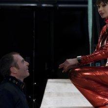 Il regista Luciano Melchionna e Anna Falchi sul set del film Ce n'è per tutti