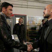 Marco Falaguasta e Gianmarco Tognazzi in una scena dell'episodio Ribellione de Il bene e il male