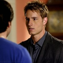 Justin Hartley in una scena dell'episodio 'Bride' dell'ottava stagione di Smallville