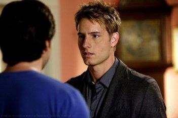 Justin Hartley in una scena dell'episodio 'Bride' dell'ottava stagione di Smallville