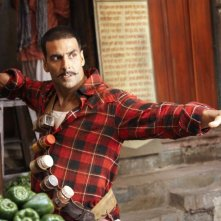 Akshay Kumar in una scena del film Chandni Chowk to China