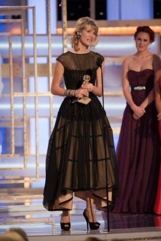 Laura Dern premiata ai Golden Globes 2009 per il suo ruolo in Recount