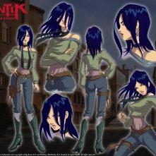 Un wallpaper del personaggio di Zhalia Moon della serie Huntik