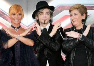 I giudici di X-Factor: Simona Ventura, Morgan e Mara Maionchi