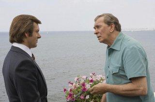 Michael Sheen e Frank Langella in un'immagine del film Frost/Nixon - Il duello