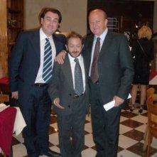 Orfeo Orlando con Massimo Boldi sul set di Un ciclone in Famiglia 4