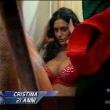La prorompente Cristina Del Basso durante la prima puntata del Grande Fratello 9