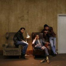 Claudio Santamaria, Giuseppe Cederna e Michele Venitucci in una foto promozionale del film Aspettando il sole