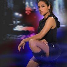 Rosario Dawson in un'immagine promozionale della serie online Gemini Division