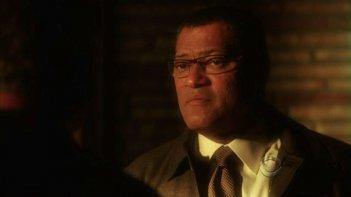 Laurence Fishburne in un momento dell'episodio 'One to go' della serie tv CSI Las Vegas