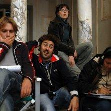 Federico Annicchiarico con Francesco Amato e la sceneggiatrice Daniela Gambaro
