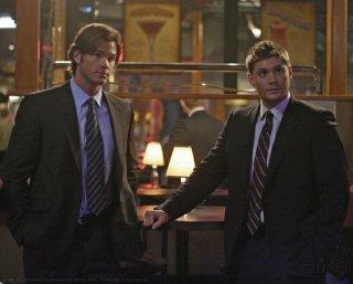Jensen Ackles e Jared Padalecki in una scena dell'episodio Sex and Violence di Supernatural