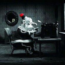 Max impegnato alla macchina da scrivere in Mary and Max