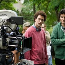 I registi Charles e Thomas Guard sul set del film The Uninvited