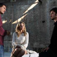Il regista Volfango De Biasi, Laura Chiatti e Nicolas Vaporidis sul set del film Iago