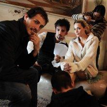 Il regista Volfango De Biasi, Nicolas Vaporidis e Laura Chiatti sul set del film Iago