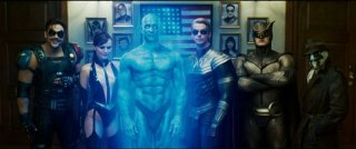 Jeffrey Dean Morgan, Malin Akerman, Billy Crudup, Matthew Goode, Patrick Wilson e Jackie Earle Haley sono i vendicatori mascherati del film Watchmen